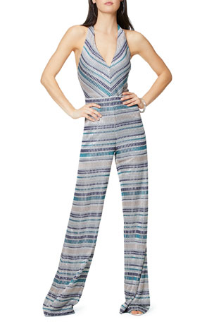 Ramy Brook Riana Printed Halter Jumpsuit