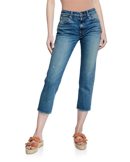 AMO Denim Syd Cropped Straight-Leg Jeans