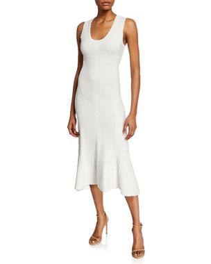 94b80f7c7c6 Diane von Furstenberg Clover Scoop-Neck Sleeveless Midi Dress