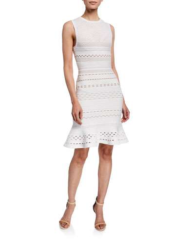 Crepe Suzette Sleeveless Sweater Dress