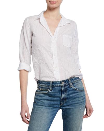 Barry Button-Down Long-Sleeve Cotton Poplin Shirt