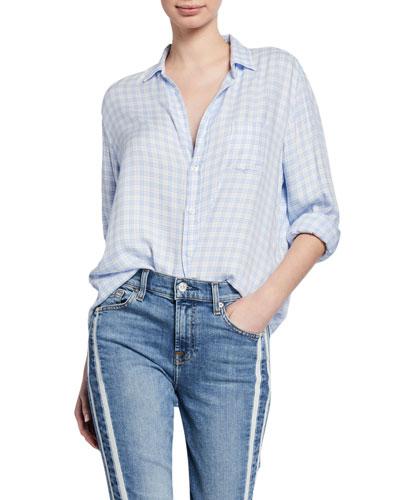 Checkered Button-Down Long-Sleeve Shirt