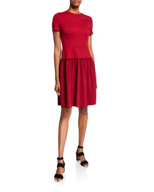 8c328e8d1acc Elie Tahari Jay Short-Sleeve Ponte Dress
