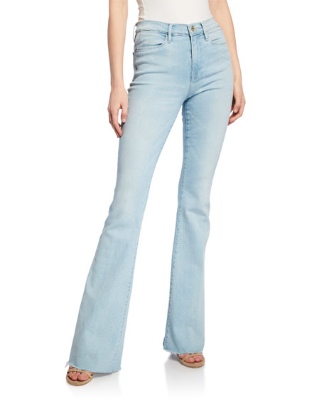 Frame Jeans LE HIGH FLARE RAW-EDGE JEANS