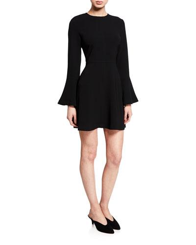 Trixie Flare-Sleeve Dress