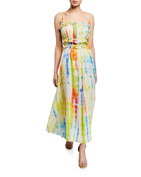 Tanya Taylor Dresses HONOR TIE-DYE SLEEVELESS MAXI DRESS