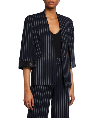 Lina Striped Suiting Blazer