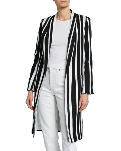 Kylie Striped Long Easy Jacket