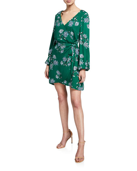 Cupcakes And Cashmere Dresses MYSTIQUE FLORAL WRAP DRESS