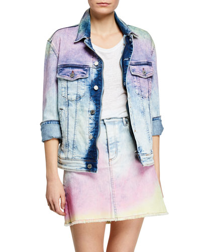 Kase Tie-Dye Denim Skirt