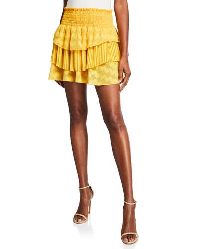 Ruth Tiered Smocked Mini Skirt