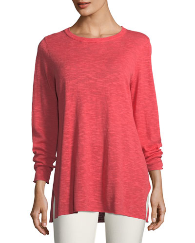 Easy Long-Sleeve Pullover Tunic  Petite