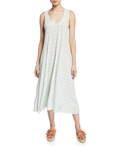 The Swing Tank Striped Midi Dress
