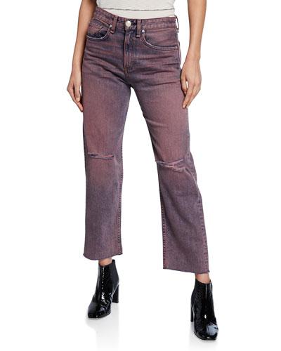 Maya High-Rise Ankle Straight-Leg Jeans