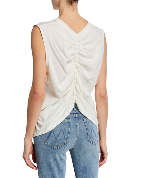 70aea865c5a0d6 Current Elliott The Pleated Back Muscle Tee In Star White