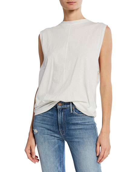 Current Elliott Tops THE PLEATED BACK MUSCLE TEE
