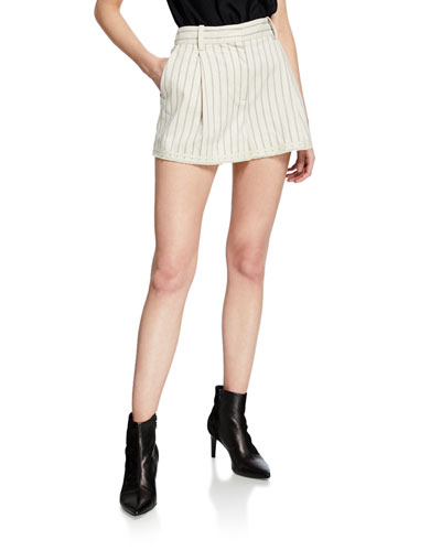 Millie Striped Cotton Shorts