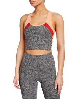 62ad55388b2a1a Beyond Yoga Color In Colorblock Cropped Tank