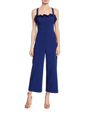 f20bc72372 Likely Romi Sleeveless Ruffle Jumpsuit