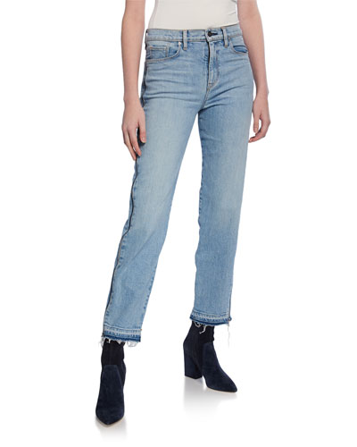Holly High-Rise Crop Straight-Leg Jeans