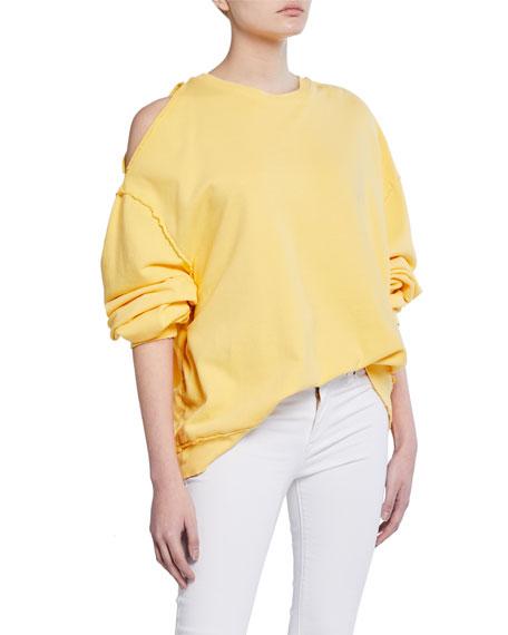 Hudson T-shirts OPEN-SHOULDER OVERSIZED SWEATSHIRT