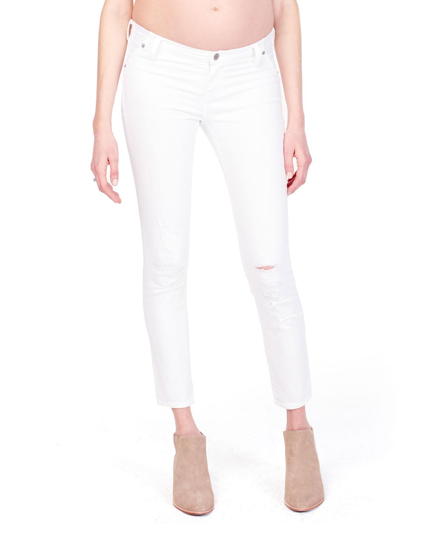 32d61ac3b3c9e Ingrid & IsabelMaternity Sasha Distressed Skinny Jeans with Inset Panel