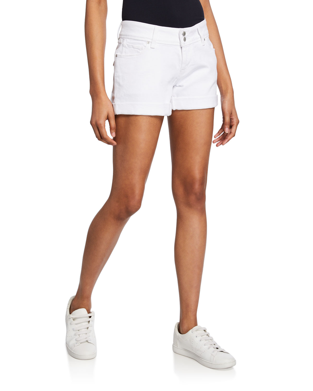 89be4ab370c Hudson Croxley Mid-Rise Denim Shorts | Neiman Marcus