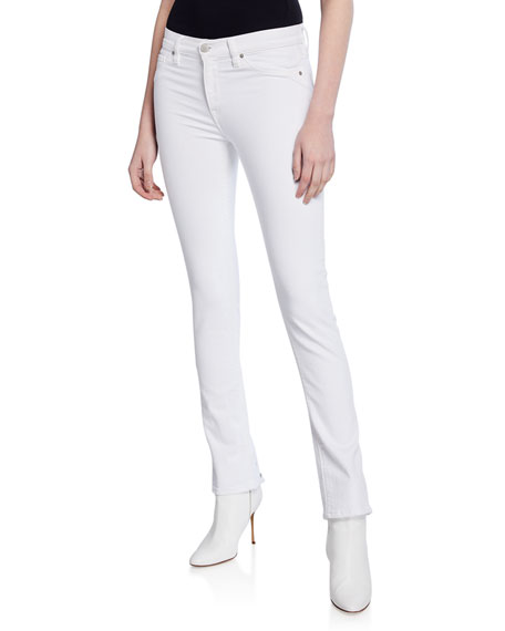 Hudson Jeans NICO MID-RISE CIGARETTE JEANS WITH GROMMETS