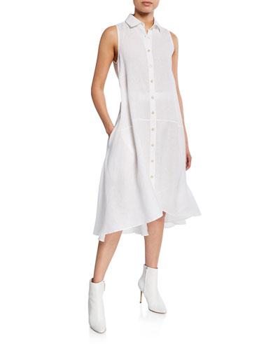 Sedona Sleeveless Button-Down Midi Shirtdress