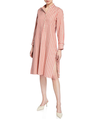 Alexandria Striped Shirt Dress