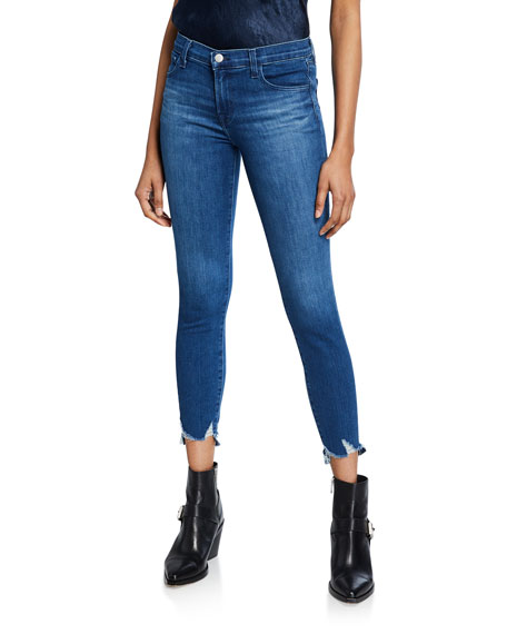 J Brand Sports 835 MID-RISE CROP SKINNY WITH DOUBLE HEM