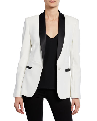 Smoking Jacket with Contrast Lapels