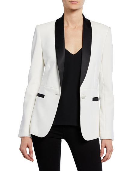 L'agence Jackets SMOKING JACKET WITH CONTRAST LAPELS
