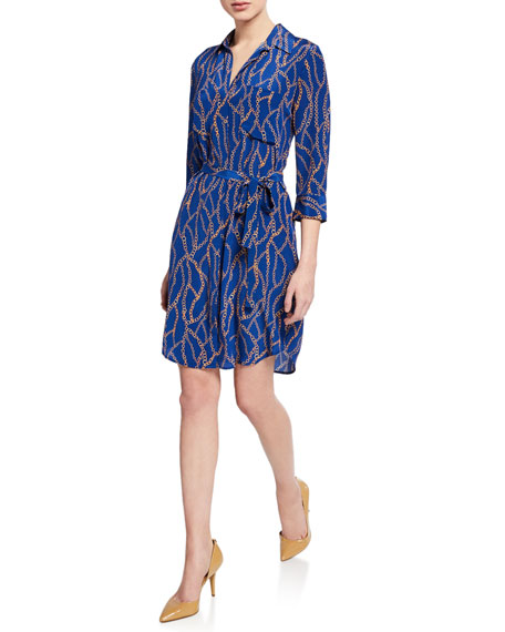 L'agence Dresses STELLA SHORT PRINTED SHIRTDRESS