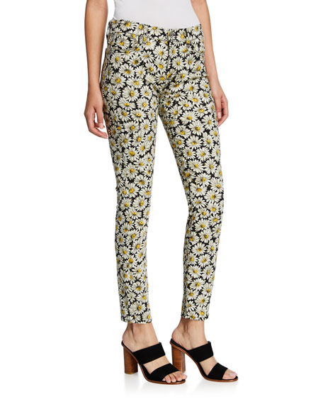 7 For All Mankind Jeans DAISY-PRINT ANKLE SKINNY JEANS