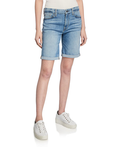 Bermuda Shorts with Rolled Cuffs