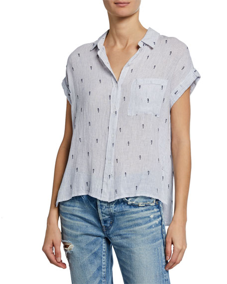 Rails Tops WHITNEY BUTTON-FRONT SEAHORSE TOP