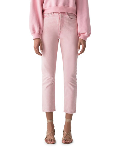 Riley High-Rise Straight Crop Jeans
