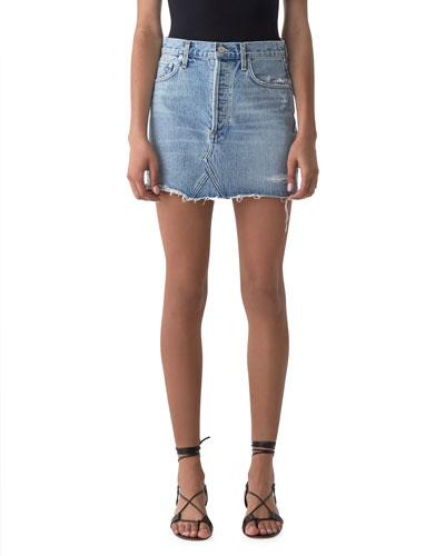 Quinn High-Rise Denim Mini Skirt