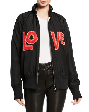 Moncler Monclear Genius Embroidered LOVE Jacket 238af29b6b