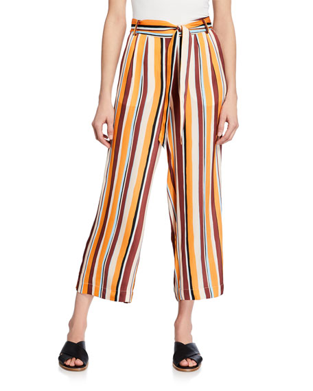 Frame Pants CROPPED CLEAN STRIPED EASY PANTS