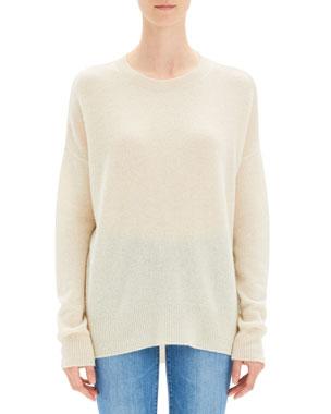 7b2ca8ad3db0 Theory Karenia Cashmere Crewneck Pullover Sweater