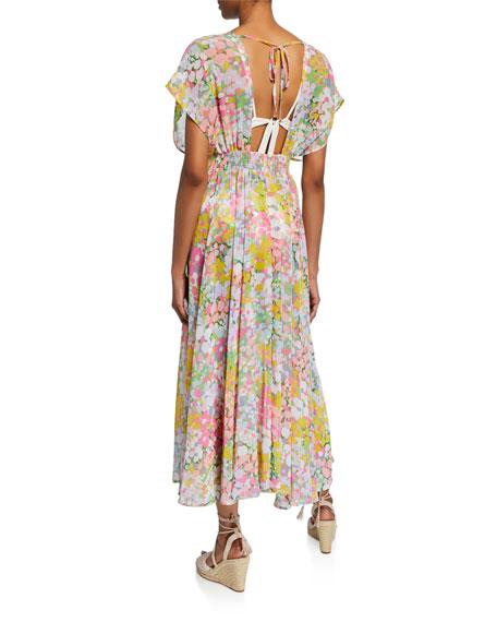 kate spade new york printed long coverup dress
