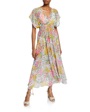 eaa8adf0e5 kate spade new york printed long coverup dress
