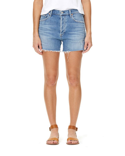 Marlow High-Rise Easy Shorts w/ Distressing