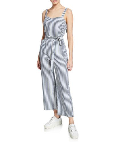 Emma Striped Sleeveless Jumpsuit