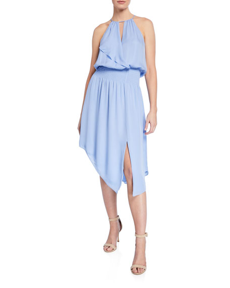 Parker Dresses HERLEY SILK ASYMMETRIC HALTER DRESS