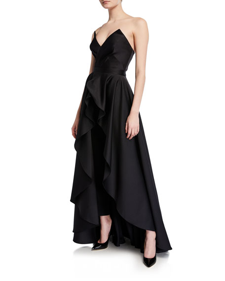 Jay Godfrey Suits Abrahams Strapless Cropped Jumpsuit & Skirt Set