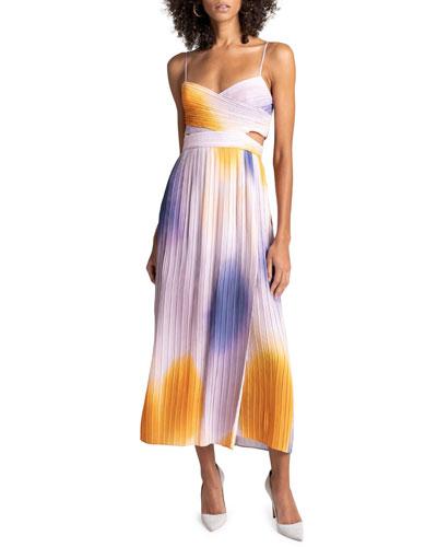 Sienna Pleated Midi Dress