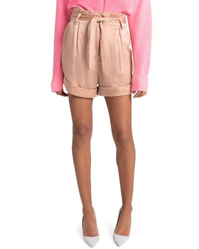 Merrick Belted High-Waist Shorts